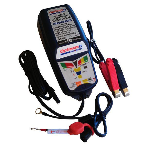 OptiMATE 6 Ampmatic automata akkumulátortöltő (12V, 5A, 3-240Ah, 9 töltési fázis)